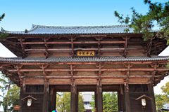 Templo de Todai-ji de Nara, Japão Imagens de Stock Royalty Free