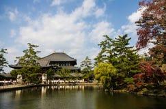 Templo de Todai-ji em Nara, Japão Foto de Stock
