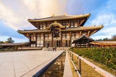Templo de Todaiji en Nara, Japón Foto de archivo