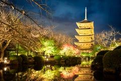 Templo de Toji fotos de archivo