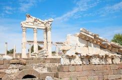 Templo de Trajan em Pergamon Turquia Imagem de Stock Royalty Free