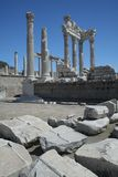 Templo de Trajan, Pergamon imagens de stock royalty free