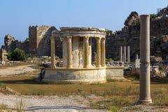 Templo de Tyche, lado, Turquia Imagem de Stock