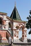 Templo de Vasiliy beatífico porch imagem de stock