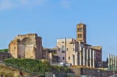 Templo de Venus y de Roma, Roma Fotografía de archivo