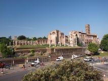 Templo de Venus y de Roma, Roma, Italia Fotografía de archivo libre de regalías
