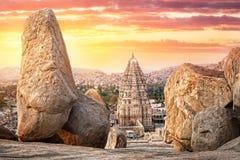 Templo de Virupaksha en Hampi Imagen de archivo libre de regalías