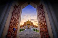 Templo de Wat Benchamabophit o del mármol Fotografía de archivo