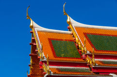 Templo de Wat Benchamabophit ou do mármore Fotos de Stock