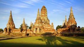 Templo de Wat Chai Watthanaram. Ayutthaya fotos de stock