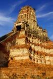 Templo de Wat Chai Watthanaram. Ayutthaya foto de stock