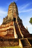 Templo de Wat Chai Watthanaram. Ayutthaya foto de archivo