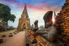 Templo de Wat Chaiwatthanaram em Ayuthay, Tailândia Fotografia de Stock Royalty Free