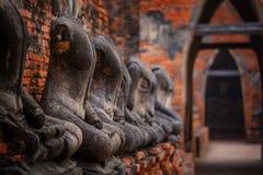 Templo de Wat Chaiwatthanaram em Ayuthay, Tailândia Imagem de Stock Royalty Free