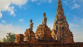 Templo de Wat Chaiwatthanaram en el parque histórico de Ayuthaya, Tailandia Foto de archivo libre de regalías