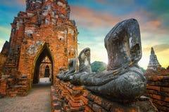 Templo de Wat Chaiwatthanaram en el parque histórico de Ayuthaya, un sitio del patrimonio mundial de la UNESCO Fotografía de archivo libre de regalías