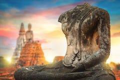 Templo de Wat Chaiwatthanaram en el parque histórico de Ayuthaya, un sitio del patrimonio mundial de la UNESCO Imagen de archivo libre de regalías