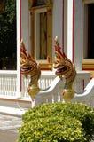 Templo de Wat Chalong da decoração Fotos de Stock Royalty Free