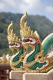 Templo de Wat Chalong de la decoración Fotografía de archivo