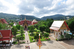 Templo de Wat Chalong, Phuket, Tailândia Imagens de Stock Royalty Free