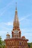 Templo de Wat Chalong, Tailandia Fotos de archivo libres de regalías