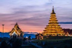 Templo de Wat Huai Pla Kung la pagoda en estilo chino en la provincia de Chiangrai de Tailandia Imagenes de archivo