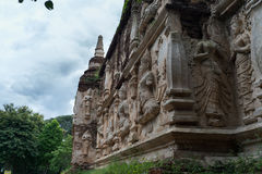 Templo de Wat Jed Yod Imagenes de archivo