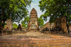 Templo de Wat Mahathat Fotografía de archivo libre de regalías