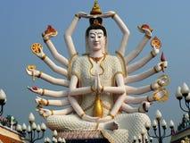 Templo de Wat Pai Laem Fotografía de archivo