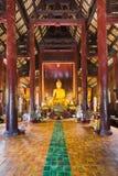 Templo de Wat Phan Tao - Chiang Mai, Tailândia Imagem de Stock