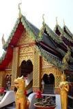 Templo de Wat Phra That Doi Kham Tambon Mae Hia, Amphoe Mueang Chiang Mai Province tailandia foto de archivo libre de regalías