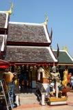 Templo de Wat Phra That Doi Kham Tambon Mae Hia, Amphoe Mueang Chiang Mai Province tailandia imagen de archivo libre de regalías