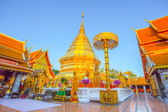 Templo de Wat Phra That Doi Suthep, Chiang Mai, Tailandia Foto de archivo libre de regalías