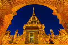 Templo de Wat Phra That Doi Suthep en Chiang Mai, Tailandia Imagenes de archivo