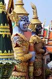 Templo de Wat Phra Kaeo, Banguecoque, Tailândia. Fotografia de Stock