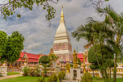 Templo de Wat Phra That Renu Nakhon Fotografía de archivo