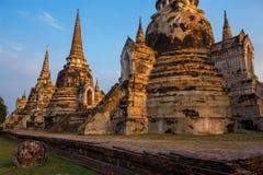 Templo de Wat Phra Si Sanphet en el parque histórico de Ayutthaya, Tailandia Fotos de archivo