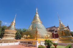 Templo de Wat Phra Singh Buddhist en Chiang Mai, Tailandia Fotografía de archivo