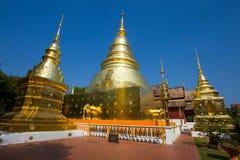 Templo de Wat Phra Singh, Chiang Mai, Tailândia foto de stock