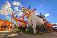 Templo de Wat Phrathat Rueng Rong Imagem de Stock