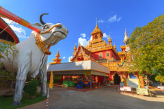 Templo de Wat Phrathat Rueng Rong Imagenes de archivo