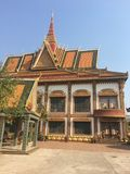 Templo de Wat Preah Prom Rath em Siem Reap, Camboja foto de stock royalty free