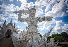 Templo de Wat Rong Khun White, Chiang Rai, Tailandia Foto de archivo