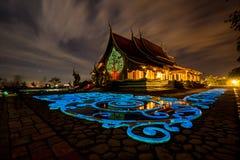 Templo de Wat Sirindhorn Wararam Fotos de archivo