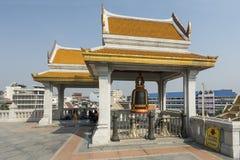 Templo de Wat Traimit en Bangkok Imágenes de archivo libres de regalías