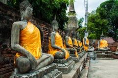 Templo de Wat Yai Chai Mongkol Imagen de archivo