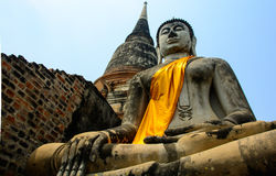 Templo de Wat Yai Chaimongkol Imagen de archivo libre de regalías