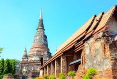 Templo de Wat Yai Chaimongkol Foto de Stock