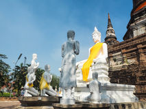 Templo de Wat Yai Chaimongkol en ayutthaya Fotografía de archivo libre de regalías