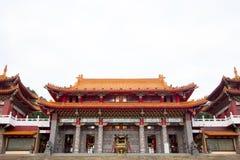 Templo de Wen wu, lago moon de Sun Imagen de archivo libre de regalías